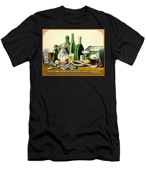 Vintage Liquor Ad 1871 Men's T-Shirt (Slim Fit) by Padre Art