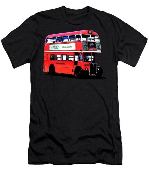 Vintage London Bus Tee Men's T-Shirt (Athletic Fit)