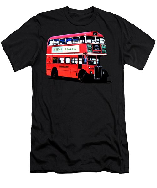 Vintage London Bus Tee Men's T-Shirt (Athletic Fit)