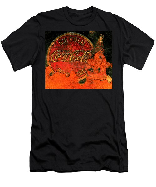 Vintage Metal Coca Cola Sign                       Men's T-Shirt (Athletic Fit)