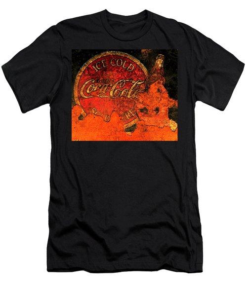 Vintage Metal Coca Cola Sign 1a                      Men's T-Shirt (Athletic Fit)