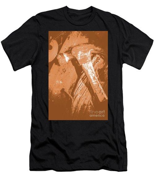 Vintage Miners Hammer Artwork Men's T-Shirt (Athletic Fit)