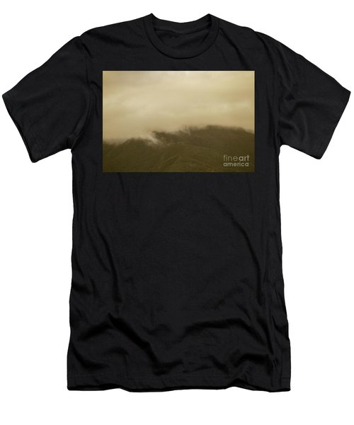 Vintage Mountains Covered By Cloud Men's T-Shirt (Athletic Fit)