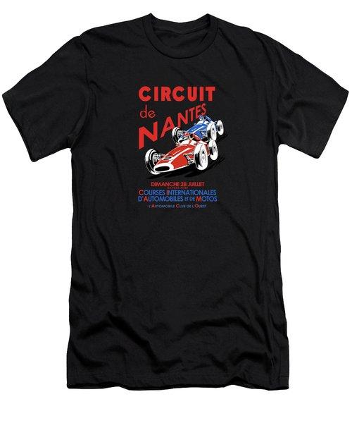 Vintage Nantes Grand Prix Poster Men's T-Shirt (Athletic Fit)