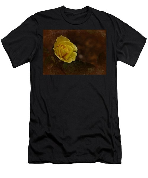 Vintage November Yellow Rose Men's T-Shirt (Athletic Fit)