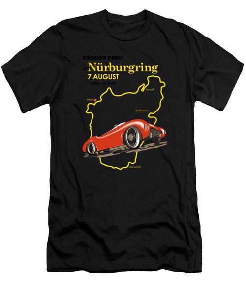 Vintage Nurburgring Motor Racing Men's T-Shirt (Athletic Fit)