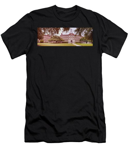 Vintage Panorama Of The Fondren Science Building At Southern Methodist University - Dallas Texas Men's T-Shirt (Athletic Fit)