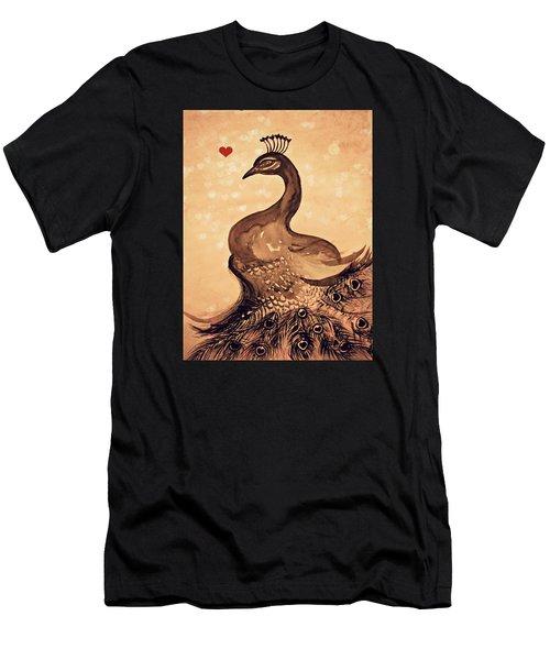 Vintage Peacock Men's T-Shirt (Athletic Fit)