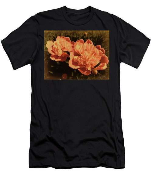 Vintage Peonies Men's T-Shirt (Athletic Fit)
