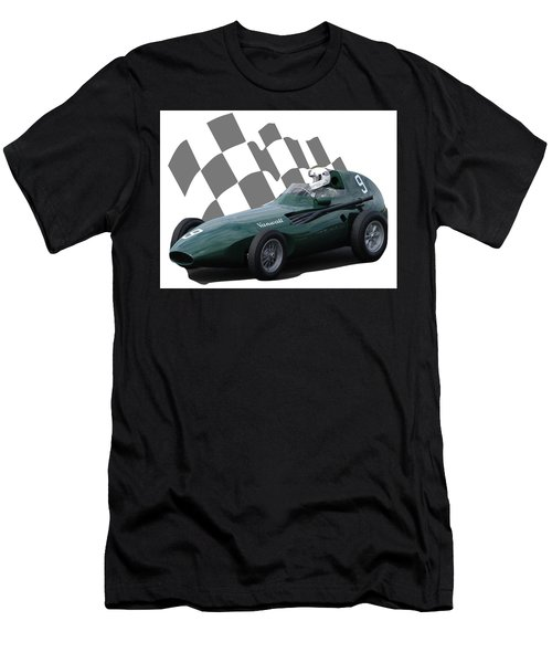 Vintage Racing Car And Flag 5 Men's T-Shirt (Athletic Fit)