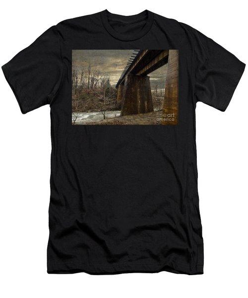 Vintage Railroad Trestle Men's T-Shirt (Athletic Fit)