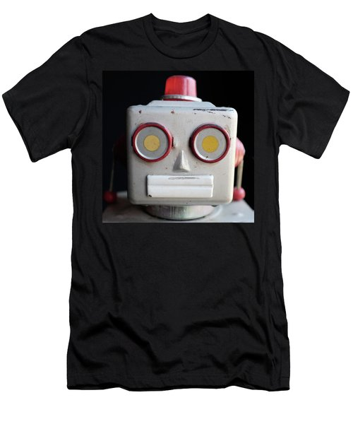 Vintage Robot Square Men's T-Shirt (Athletic Fit)