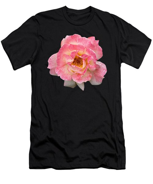 Vintage Rose Square Men's T-Shirt (Athletic Fit)