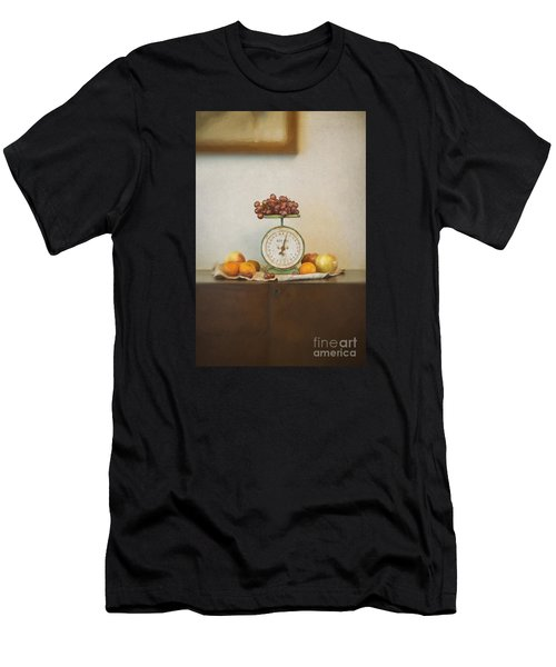 Vintage Scale And Fruits Painting Men's T-Shirt (Athletic Fit)