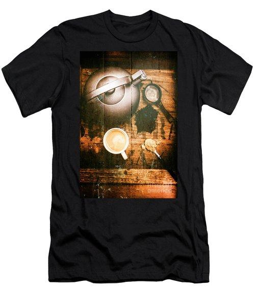Vintage Tea Crate Cafe Art Men's T-Shirt (Athletic Fit)