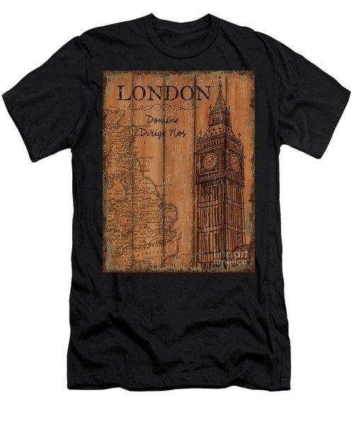 Vintage Travel London Men's T-Shirt (Athletic Fit)