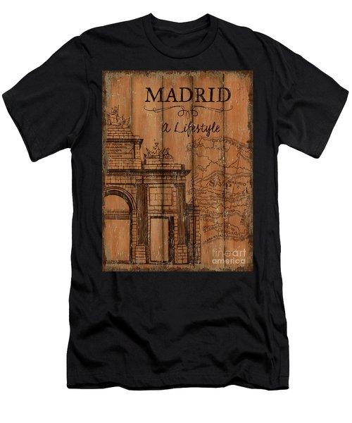 Vintage Travel Madrid Men's T-Shirt (Athletic Fit)