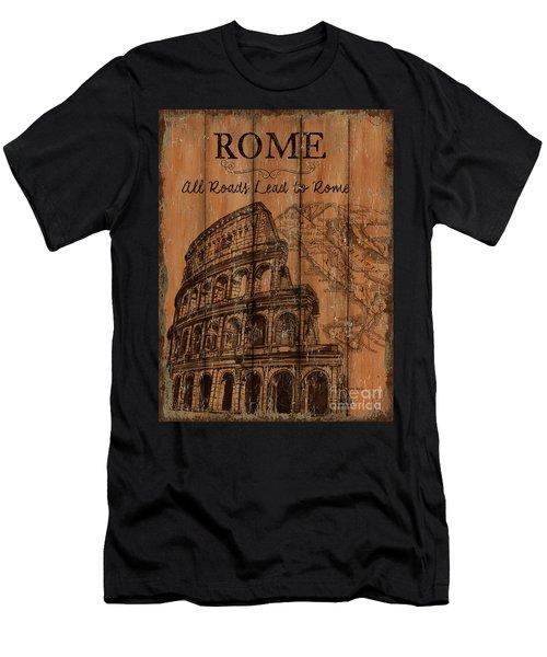Vintage Travel Rome Men's T-Shirt (Athletic Fit)