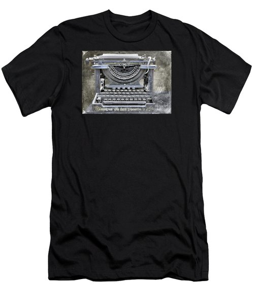 Vintage Typewriter Photo Paint Men's T-Shirt (Slim Fit) by Nina Silver