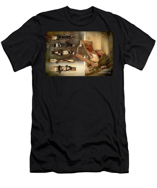 Men's T-Shirt (Athletic Fit) featuring the digital art Vintage Winter 2017 by Kathryn Strick