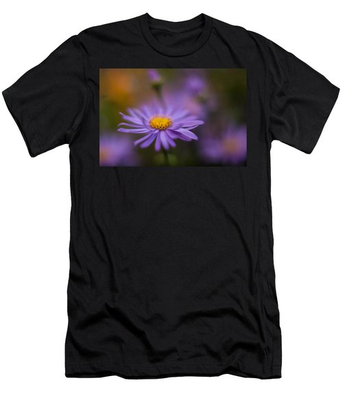 Violet Daisy Dreams Men's T-Shirt (Athletic Fit)