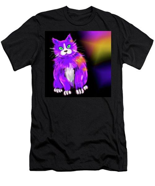 Violet Dizzycat Men's T-Shirt (Slim Fit) by DC Langer