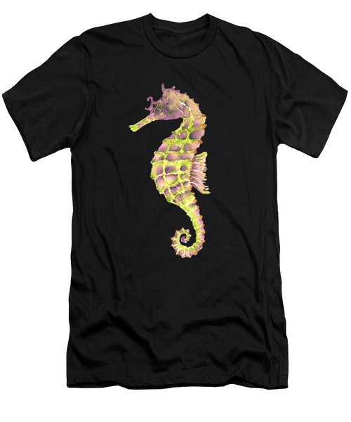 Violet Green Seahorse - Square Men's T-Shirt (Athletic Fit)