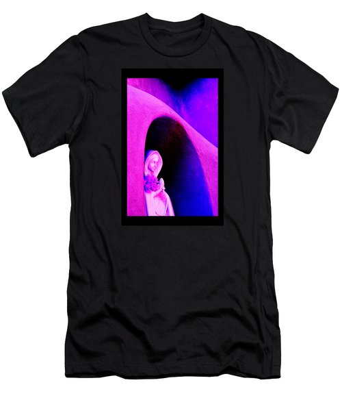 Violet Virgin Of Guadalupe Men's T-Shirt (Slim Fit) by Susanne Still