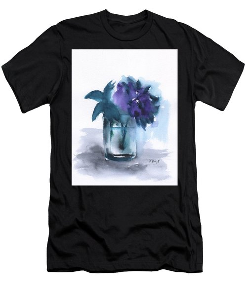 Violets In A Glass Abstract Men's T-Shirt (Athletic Fit)