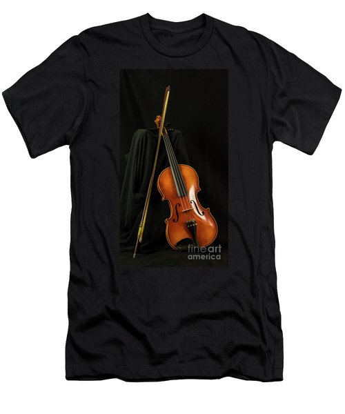 Violin And Bow Men's T-Shirt (Athletic Fit)