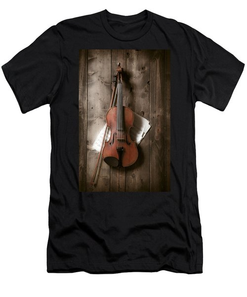 Violin Men's T-Shirt (Athletic Fit)