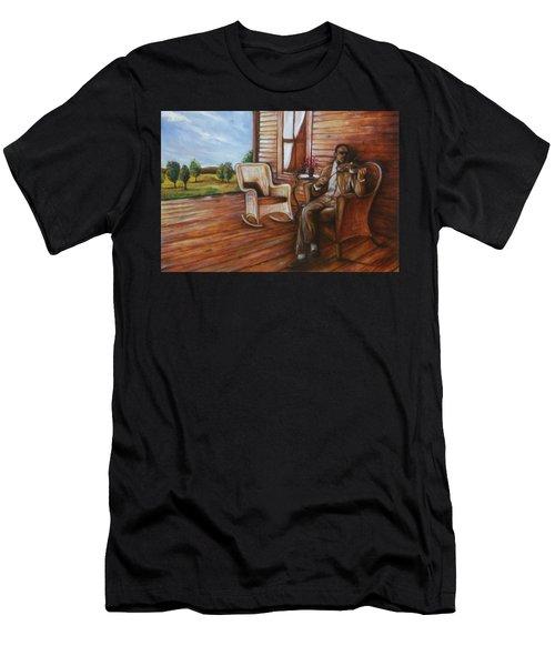 Violin Man Men's T-Shirt (Athletic Fit)