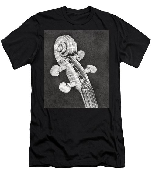 Violin Scroll Men's T-Shirt (Athletic Fit)