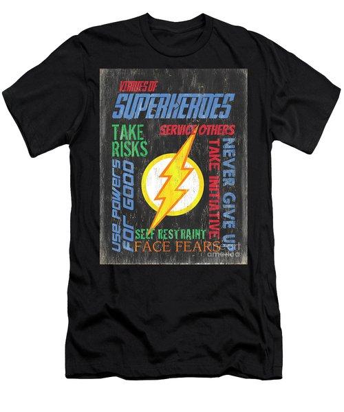 Virtues Of A Superhero 2 Men's T-Shirt (Athletic Fit)