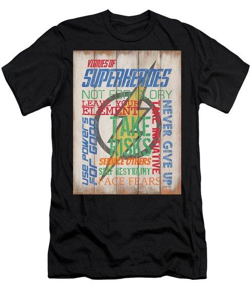 Virtues Of A Superhero Men's T-Shirt (Athletic Fit)