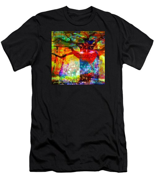 Men's T-Shirt (Slim Fit) featuring the mixed media Vision The Tree Of Life by Fania Simon