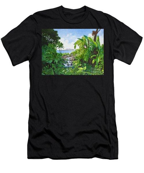 Visions Of Paradise Ix Men's T-Shirt (Slim Fit) by Michael Frank