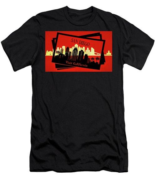 Visit San Diego California Postcard Men's T-Shirt (Athletic Fit)