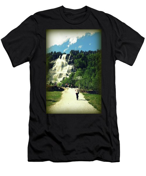 Visit To Tvindefossen Falls Men's T-Shirt (Athletic Fit)