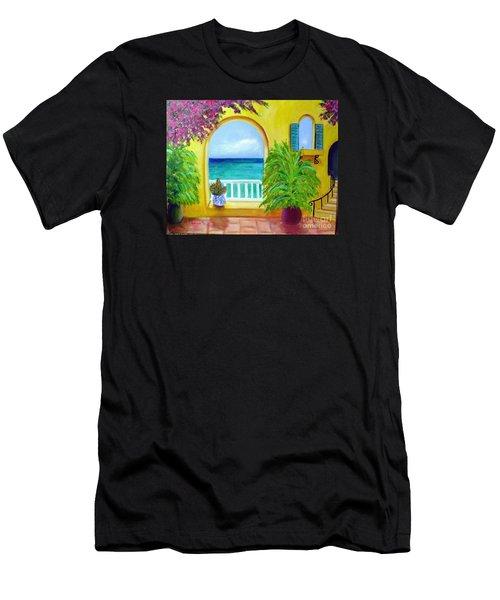 Vista Del Agua Men's T-Shirt (Athletic Fit)