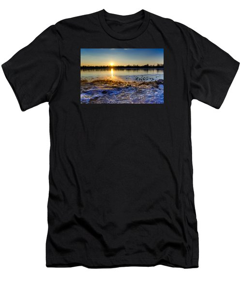 Vistula River Sunset 3 Men's T-Shirt (Athletic Fit)
