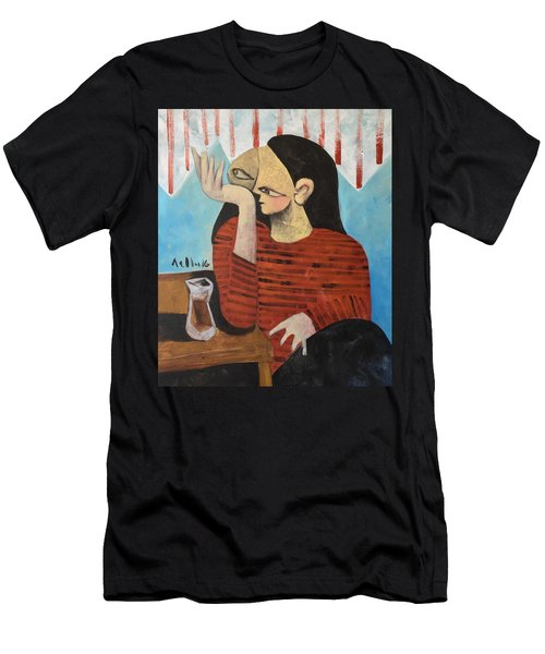 Vitae Woman Drinking Tea Men's T-Shirt (Athletic Fit)