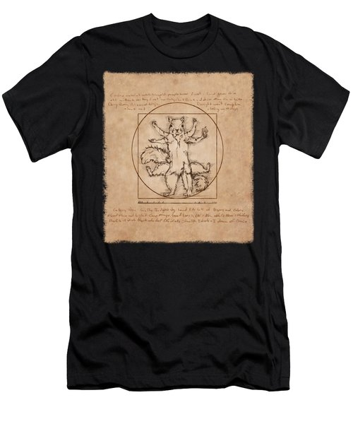 Vitruvian Squirrel Men's T-Shirt (Athletic Fit)