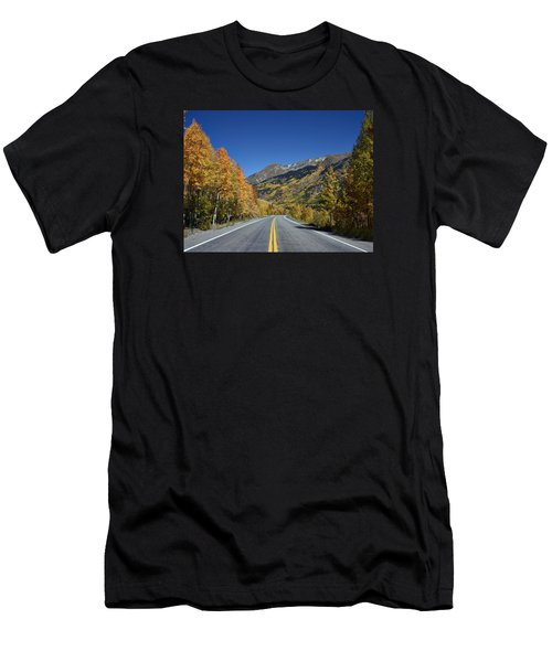Vivid Fall Colors On The Million-dollar Highway In San Juan County In Colorado  Men's T-Shirt (Athletic Fit)