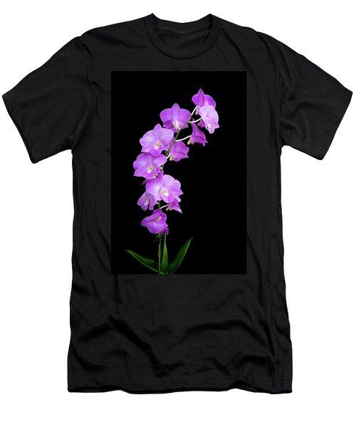 Vivid Purple Orchids Men's T-Shirt (Athletic Fit)