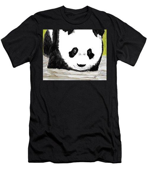 Vivi's Pet Panda Men's T-Shirt (Athletic Fit)