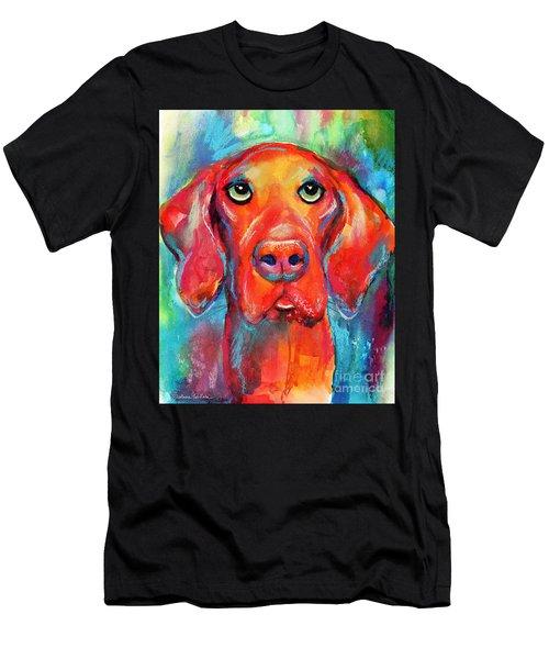 Vizsla Dog Portrait Men's T-Shirt (Athletic Fit)