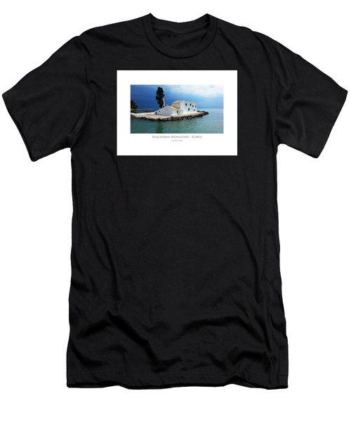Men's T-Shirt (Athletic Fit) featuring the digital art Vlachurna Monastary - Corfu by Julian Perry