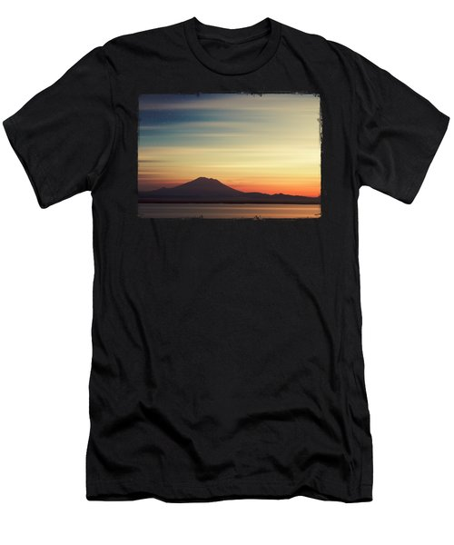 Volcano At Dawn - Gunung Agung Bali Men's T-Shirt (Athletic Fit)