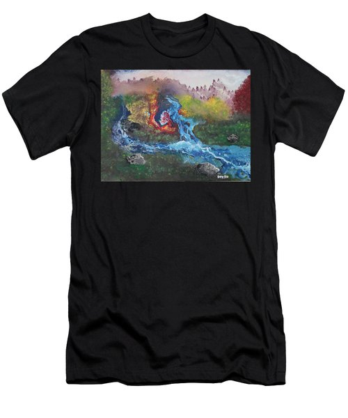 Men's T-Shirt (Athletic Fit) featuring the painting Volcano Delta by Antonio Romero